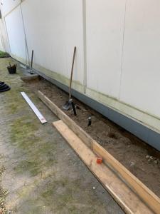 Bauarbeiten für die DHL Packstation in Velbert